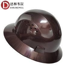 Darlingwell borda cheia capacete de segurança ventilado capacete de segurança respirável trabalho ferroviário metalurgia mina construção por atacado