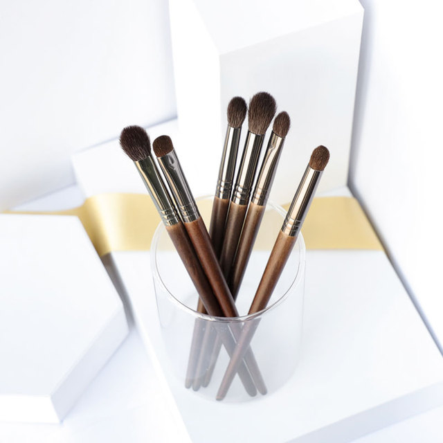 OVW Cosmetic 6 pcs Ultra Soft Goat Hair Makeup Eye Shadow Brush Set Tool trucchi pennelli Tapered Blender Diffuse Kit Cut Crease 4