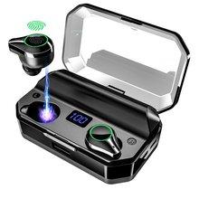 T9 Drahtlose Kopfhörer Bluetooth Kopfhörer TWS Ohrhörer HiFI Headset 8000mAh Fall 6H Musik Spielen für Sport Waterpoof Kopfhörer