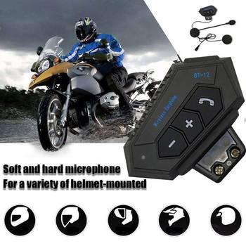 Motorcycle Helmet Headset Wireless Bluetooth Headphone Speaker Hands-Free BT-12 Headset Intercom Motorbike Headphone FM GPS