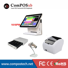 цена на 15 Inch Touch Screen POS System All In One Completely Set Point Of Sale Cash Machine
