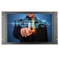 ZHIXIANDA 17.3 inch industrial screen Metal case 1920*1080 HDMI VGA BNC AV USB input open frame touch monitor with speaker