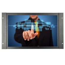 цены ZHIXIANDA  17.3 inch industrial screen Metal case 1920*1080 HDMI VGA BNC AV USB input  open frame touch monitor with speaker