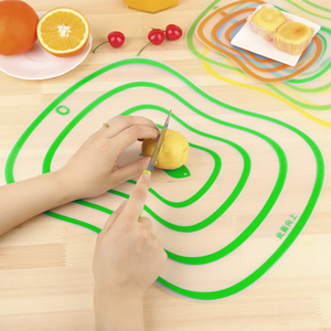 Kitchen Plastic Chopping Board Non-slip Frosted Kitchen Cutting Board Vegetable Meat Tools Kitchen Accessories Chopping Board(China)