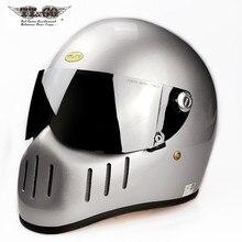 TT & CO 톰슨 풀 페이스 오토바이 레트로 헬멧 빈티지 유리 섬유 TTCO 일본 Capacete Motocross Casco Moto Cafe Racer