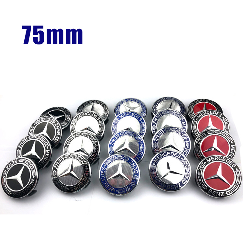 75mm Wheel Hub Caps For Mercedes Benz AMG Emblem W203 W204 W205 W209 W210 W211 W212 W176 W166 W163 W221 Rim Center Cover