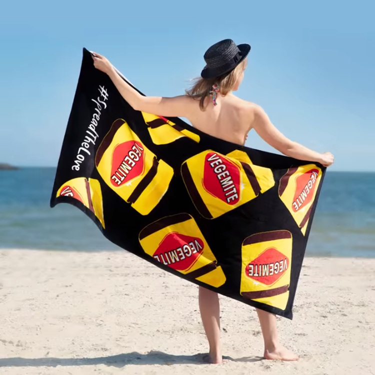 560g Vegemite JDK Australia Batch Towel Beach Towel Pareo Sarong 160*80cm