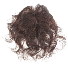 Middle Part Human Hair Topper Wig For Women Breathable Hair loss With  White hair Clips In Hair Women Toupee Remy Hairpiece