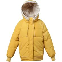 Women winter short parkas jacket 2019 New Thick warm hooded Casual solid sweet jackets for female