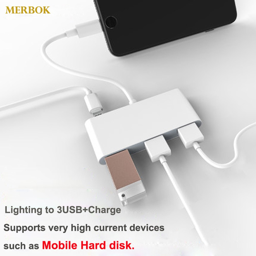 IOS13 OTG Adapter For IPhone 11 XR X XS Max 8/7 Lighting To USB Needn't APP Support Mobile Hard Disk / Solid State Drive SSD