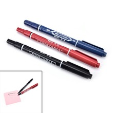 Double-Hand-Marker Marker-Pen Stationery Pens Practical Fine-Colour Waterproof Portable