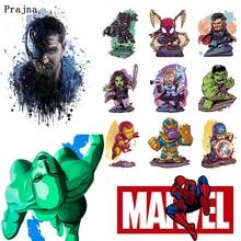 Prajna Marvel Series Anime Heat Transfer Printing Iron On Thermal Stickers The Avengers Vinyl For Clothing Cartoon F