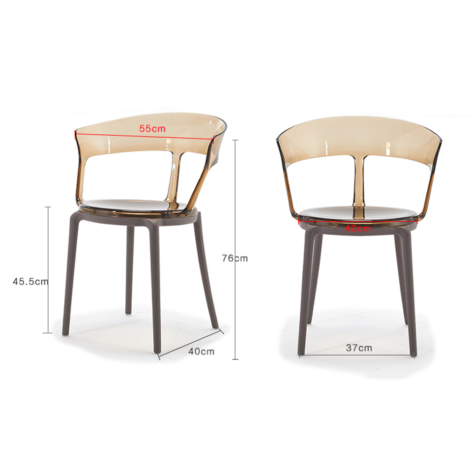 PC Clear Chair Plastic Dining Chairs Restaurant Suitable for Modern Office Home Bedroom Single Person Design Chair furniture