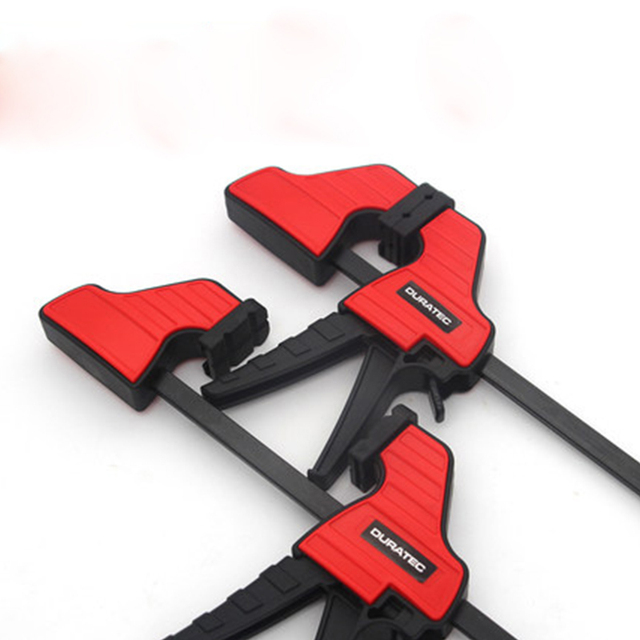 4/6/12/18/24 inch Duratec Heavy Duty F Clamp Woodworking Fixed Clip Quick Grip F Style Bar for Woodworking Tools Clamps 5