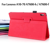 Case For Lenovo A10-70 A7600-H / A7600-F Case Stand PU Leather Tablet Cover For Lenovo A10-70 A7600 Funda it baggage чехол для lenovo tab 10 a10 70 a7600 red