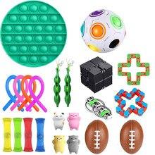 Fidget Sensory Toy Fidget Set Stress Relief Toys Autism Anxiety Relief Stress Bubble Fidgets Toys For Kids Adults Random Color
