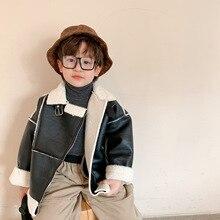Coat Toddler Outwear Jacket Kids Winter Clothes Faux-Fur Autumn Boys Fashion New Warm