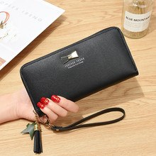 Woman's wallet Long Zipper Bow Brand Leather Coin Purses Tassel Design Clutch Wallets Female Money Bag Credit Card Holder 572