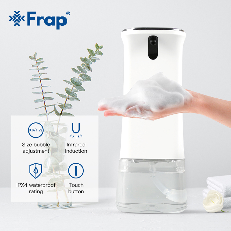 FRAP 280ml Infrared Sensor Soap Dispenser Pump Portable Automatic Foam Soap Dispenser Bathroom Kitchen Hand Wash Soap Machine