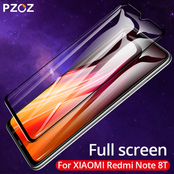 PZOZ Tempered Glass For Xiaomi Redmi Note 8T 6 7 8 K30 K20 Pro 4X 5 Plus 7A Tempered Glass Full Cover Screen Protector 9H Glass