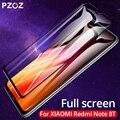 Vidrio Templado PZOZ para Xiaomi Redmi Note 8T 6 7 8 K30 K20 Pro 4X5 Plus 7A Protector de pantalla de vidrio templado Protector de pantalla completo 9H