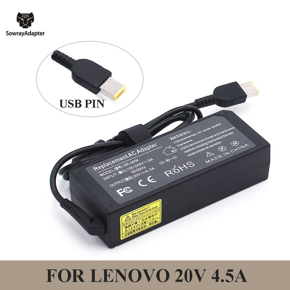 90W 20V 4.5A USB Pin AC Adapter Laptop Charger UNTUK LENOVO G405s G500 G500s G505 G505s G510 G700 thinkPad ADLX90NCC3A ADLX9 E540