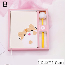 Cartoon Cute Notebook Cats Notepad Diary Book Set Imitation Leather Wireless Binding OUJ99