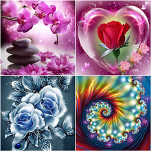 DIY Flower 5D Diamond Painting Landscape Rose Diamond Embroidery Full Round Drill Mosaic Rhinestones Cross Stitch Home Decor diapai 100% full square round drill 5d diy diamond painting flower landscape diamond embroidery cross stitch 3d decor a21095