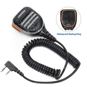 Image 5 - 2PCS ABBREE AR 780 עמיד למים כתף רמקול מיקרופון למכשיר קשר TH UV8000D MD 380 Baofeng UV S9 BF UVB3 בתוספת AR F8