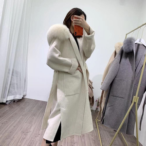 Image 5 - OFTBUY 2020 אמיתי פרווה מעיל חורף מעיל נשים טבעי פרוות שועל צווארון הוד קשמיר צמר תערובות x ארוך הלבשה עליונה streetwear קוריאה
