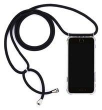 Funda para iPhone 11 collar Cordón de la correa de hombro de cordón funda de telefono de TPU suave para iPhone XR 11 Pro Max X 7 8