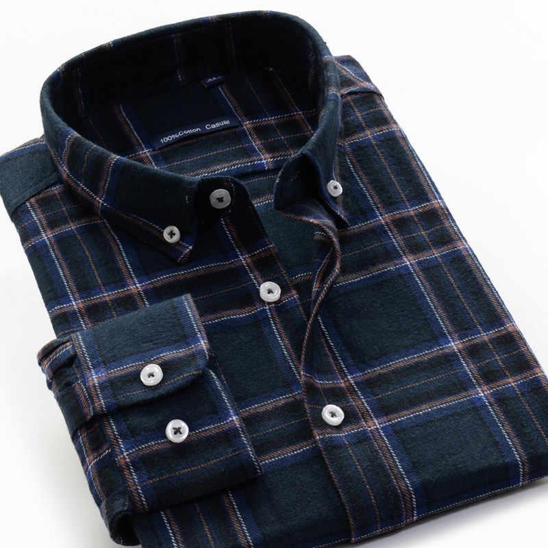 5XL 6XL 7XL 8XL 9XL 10XL camisa a cuadros talla grande 100% algodón 2019 Otoño e Invierno nueva moda casual hombres camisa de manga larga