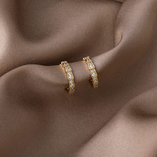 2021 primavera nuovi orecchini a cerchio piccoli in metallo con strass in rame accessori per gioielli da Campus popolari creativi da donna