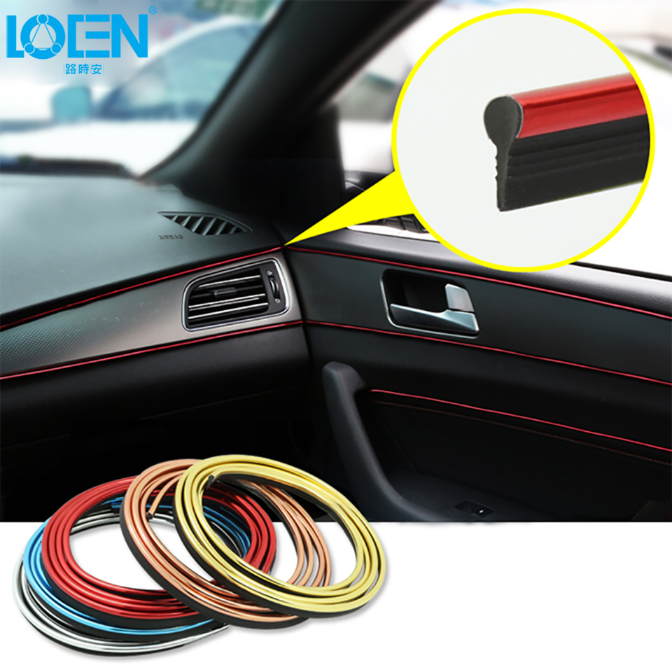 5 Meters Refitting Accessories Car Moulding Strip For MK6 GOLF 5 6 7 Mk7 Sagitar Scirocco Tiguan Accessories Gap Insert Strip