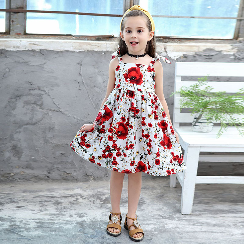 Flower Girl Princess Dress Kids Party Pageant Long Sleeve Floral Dresses Clothes