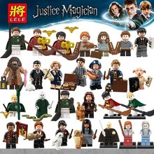 Untuk Legoing Harry Film Hermione Granger Lord Voldemort Ron Draco Malfoy Blok Bangunan Batu Bata Mainan Magic Angka dengan Legoings(China)