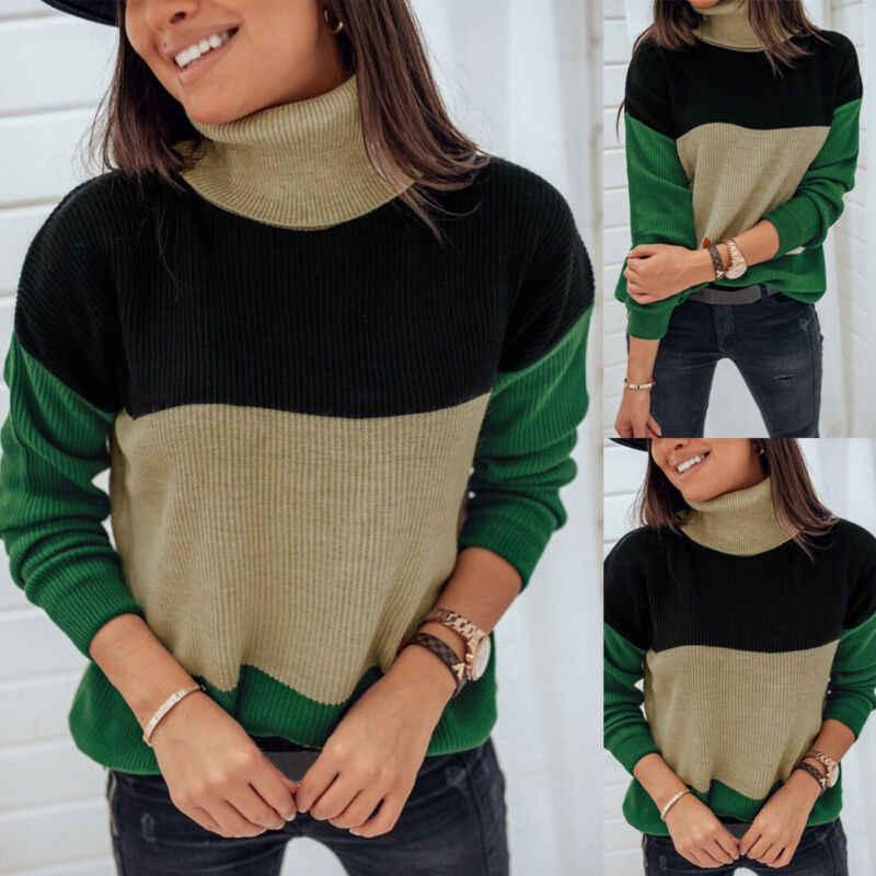 Herbst Winter Damen Sweatshirt Jumper Pullover Tops Bluse Strickjacke Strickwaren Frauen Lose Lange Ärmel Stricken Pullover Outwear Top