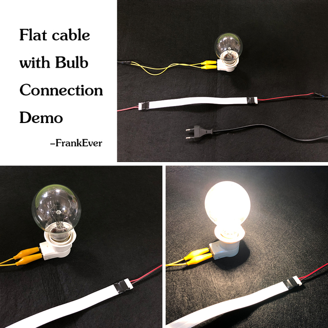Cable plano súper fino FrankEver Cable de altavoz Invisible Led Cable 23 AWG cobre puro 2 Conductor con respaldo adhesivo