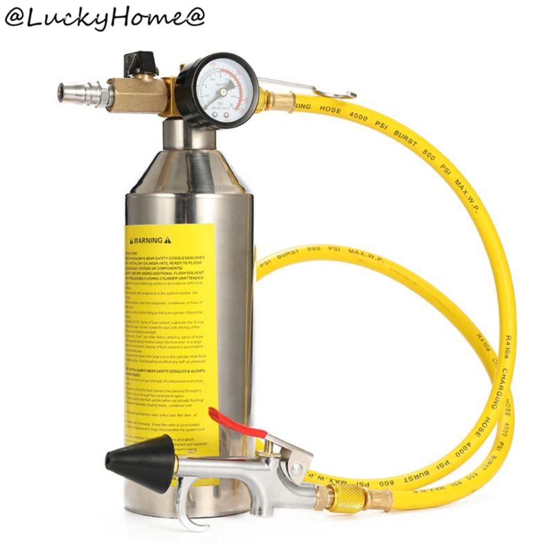 Tools : Car Air Conditioning Pipe Cleaning Machine Pipeline Washer Bottle Refrigeration 11UA