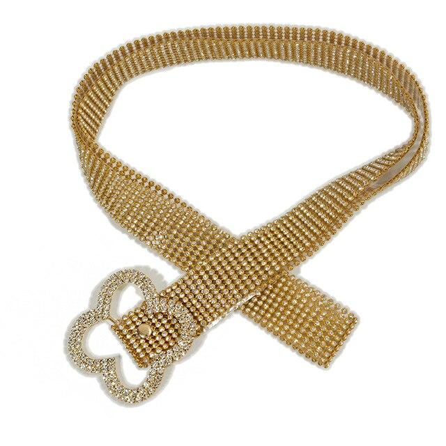 120CM Brilliant Women's Belt Waist Chain Full Rhinestone Crystal Belt Luxury Large Party Waist Belt for 2020 Fashion 4