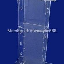 Прозрачный дешевый акриловый подиум оргстекло