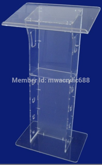 Free Shipping Transparent Cheap Acrylic Lectern Outdoor Podium Plexiglass