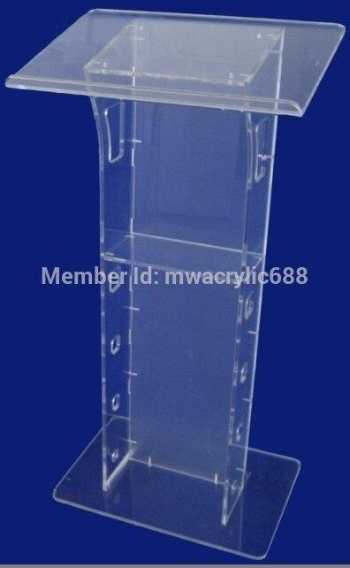 Free Shipping Transparent Cheap Acrylic Lectern Outdoor Podium Plexiglass