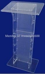 Kostenloser Versand Transparent Günstige Acryl Rednerpult outdoor podium plexiglas