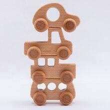 Montessori Toys Wooden Blocks Custom-Nam Educational Teething Children Birthday-Gift