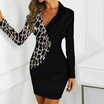 Autumn Dress Women Office Lady Sexy Solid Turn Down Neck Long Sleeve Buttons Bodycon Work Formal Dress Freeship Wholesale платье 4