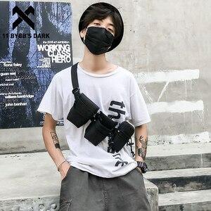 11 BYBB'S темно мульти-карман тактическая поясная сумка модный чехол для телефона на открытом воздухе беговые поясные сумки хип-хоп нагрудные с...