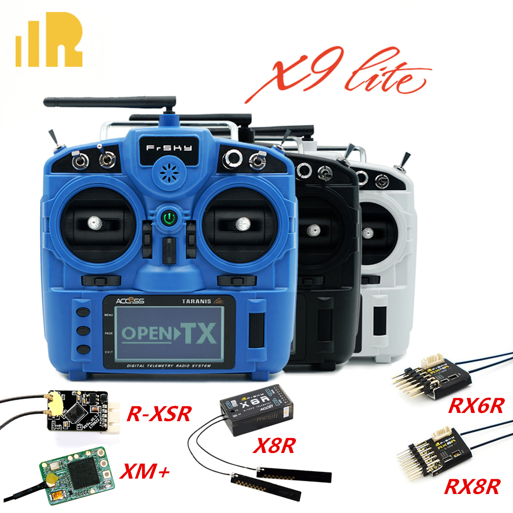 Frsky X9 Lite 24CH OpenTX ACCESS ACCST D16 RC Radio Transmitter Mode2 XM+/R-XSR/RX4R/RX6R/X8R Receiver for RC Drone Airplanes image