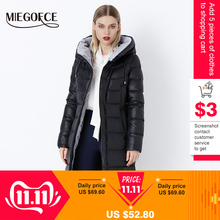 MIEGOFCE Coat Jacket Collection Hooded Warm Parkas Bio-Fluff Female Hight-Quality Hot