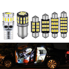 2x T10 W5W ba9s c5w For VW For POLO 6R 6C 9N 9N3 6N 6N1 6N2 1994-2017 Vehicle LED Interior Map Dome Trunk Light Canbus Car Lamp